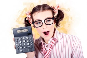 Education Math Tutor Holding Numbers Calculator